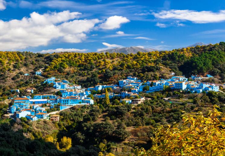 Júzcar ruta pueblos cercanos a Benalauría - Málaga