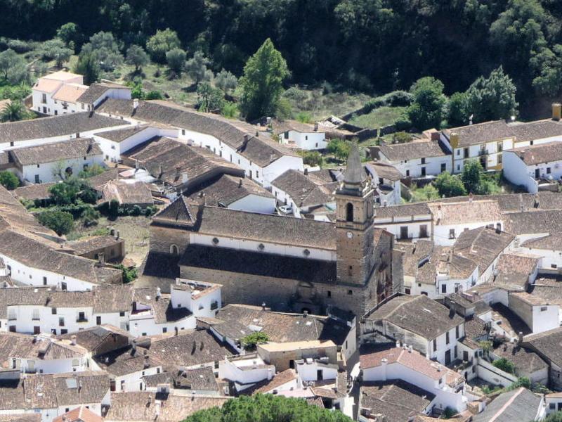 Vista panorámica Alájar - Huelva