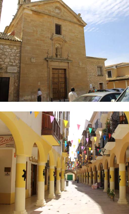 convento carmelitas y calle comercial